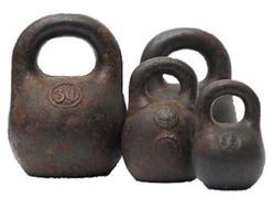 vintage kettlebells