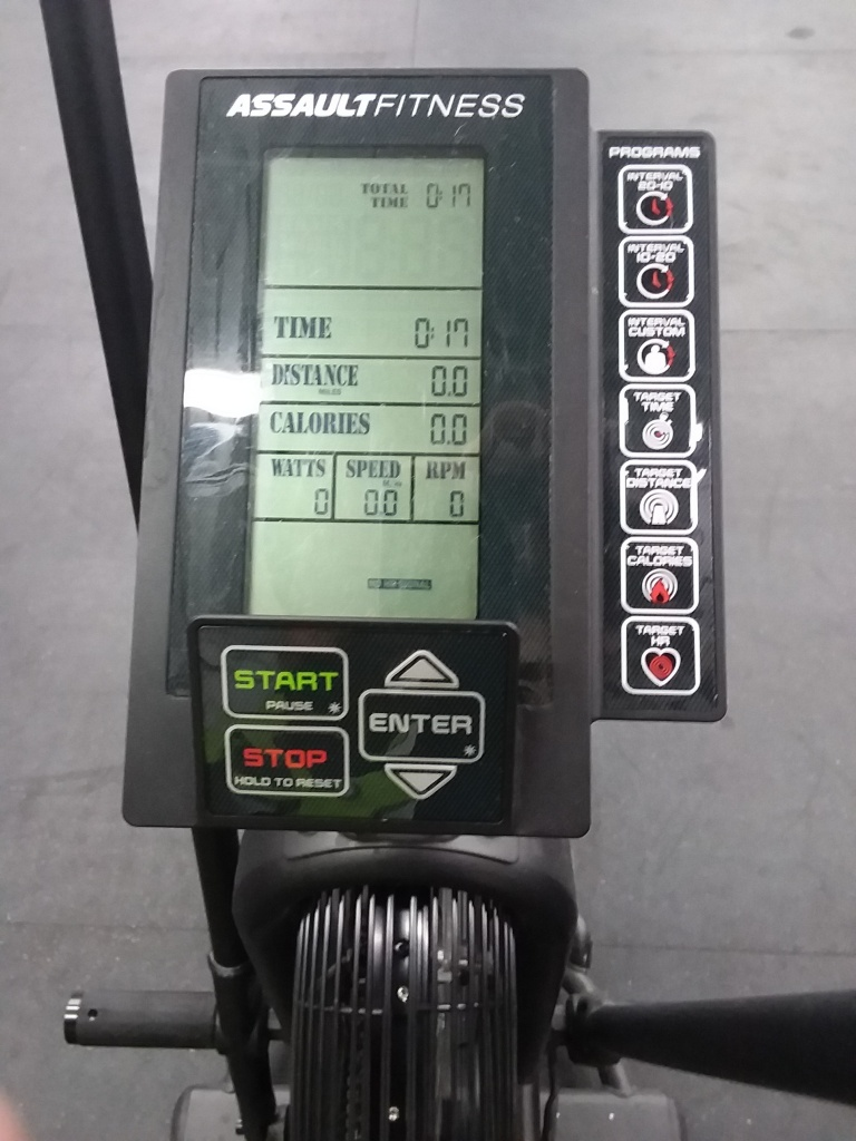 Assault Airbike monitor display