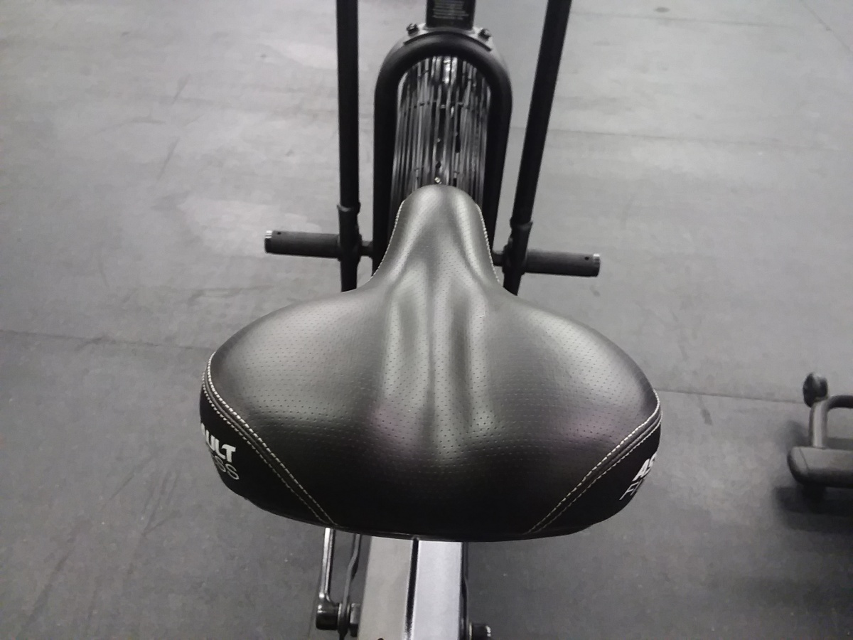 Seat pad design on the Assault Airbike