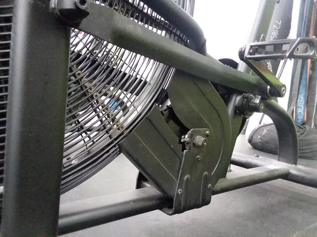Close up look at frame construction on the Assault Airbike