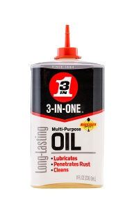 3 in One Oil for wiping down a barbell to prevent rust