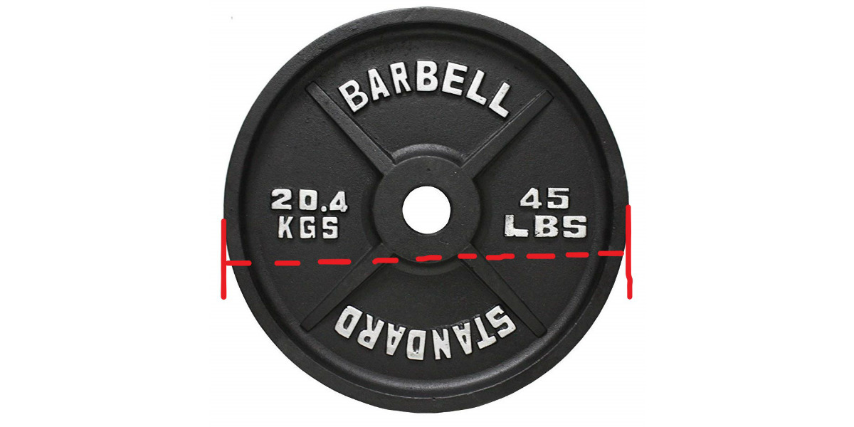 Olympic 45 Lb Plate Dimensions