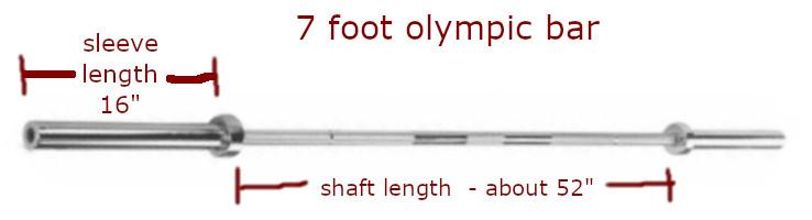 olympic bar length