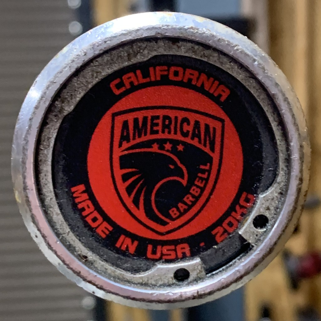 California Bar 20kg double snap ring design and red end cap