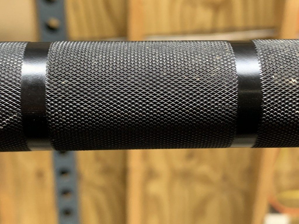 California Barbell close up volcano style knurling