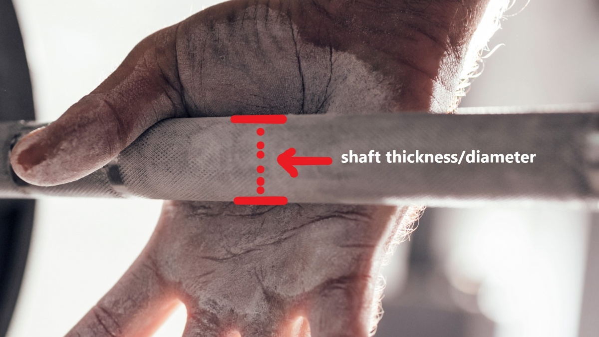barbell shaft diameter