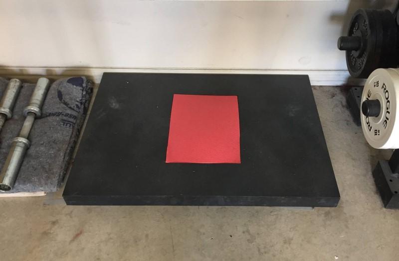 Custom built handstand pushup fplatform