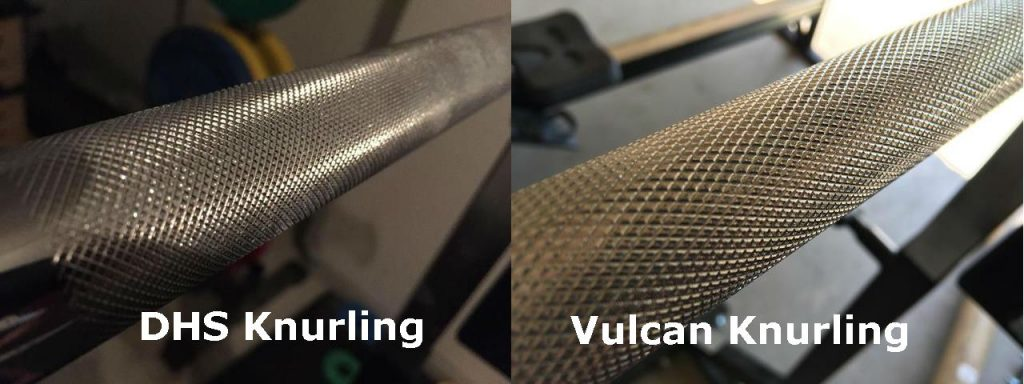 Knurling on DHS and Vulcan Bar