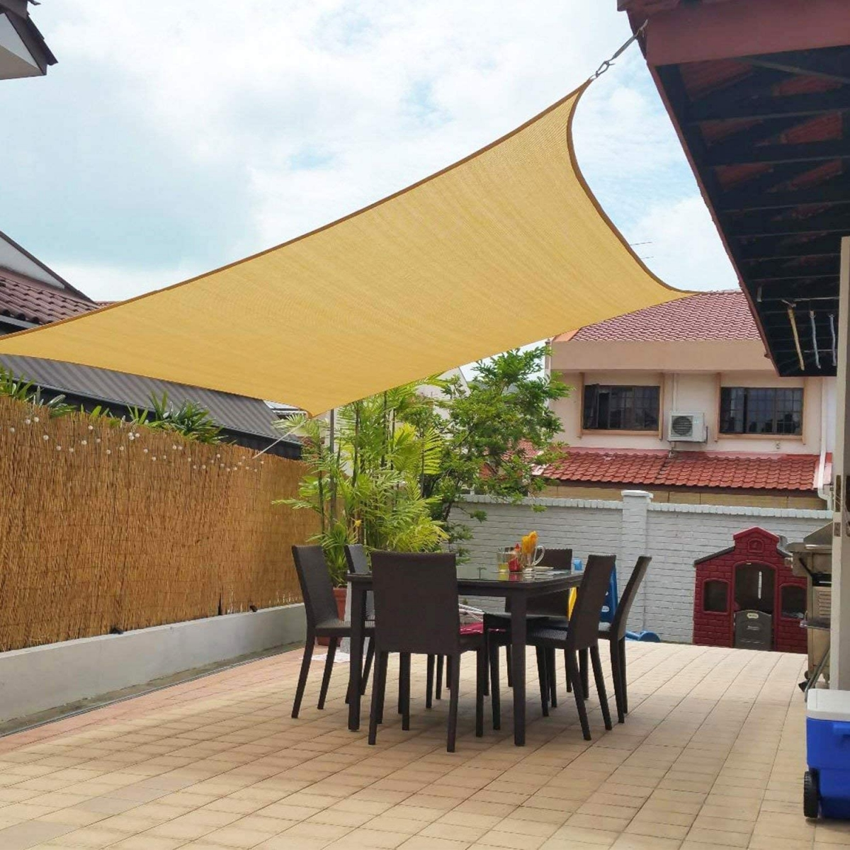 outdoor home gym protective shade