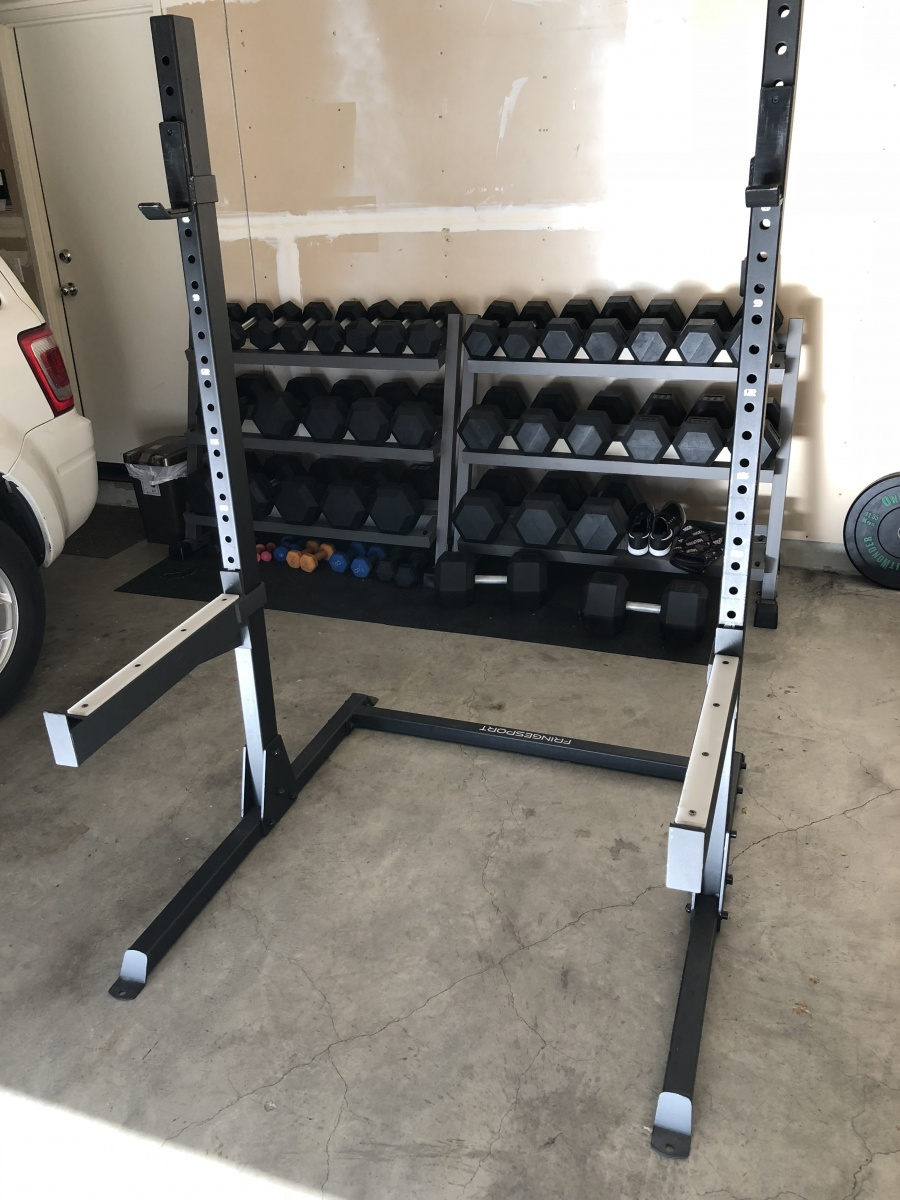 FringeSport commercial squat rack with 1000lb weight limit