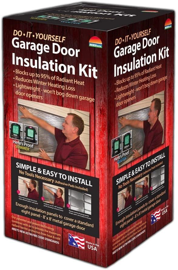 garage gym door insulation kit