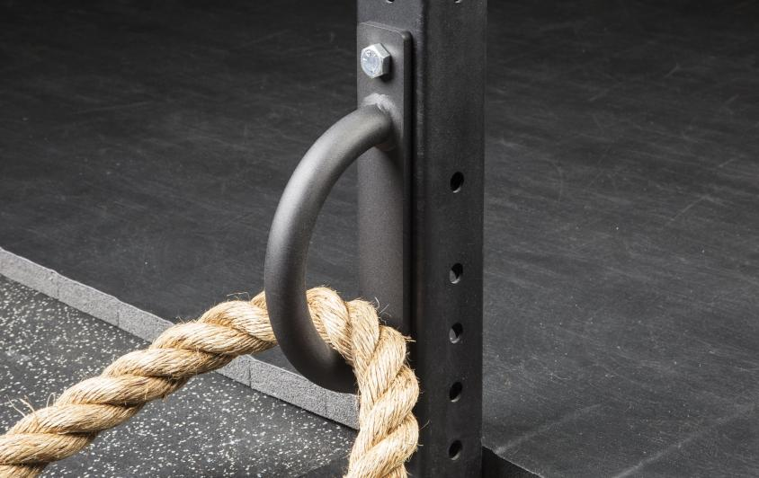 how to anchor battle ropes to a rack