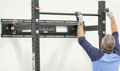 wall stringer for folding squat rack