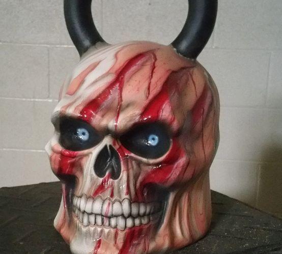 bloody skull kettlebell