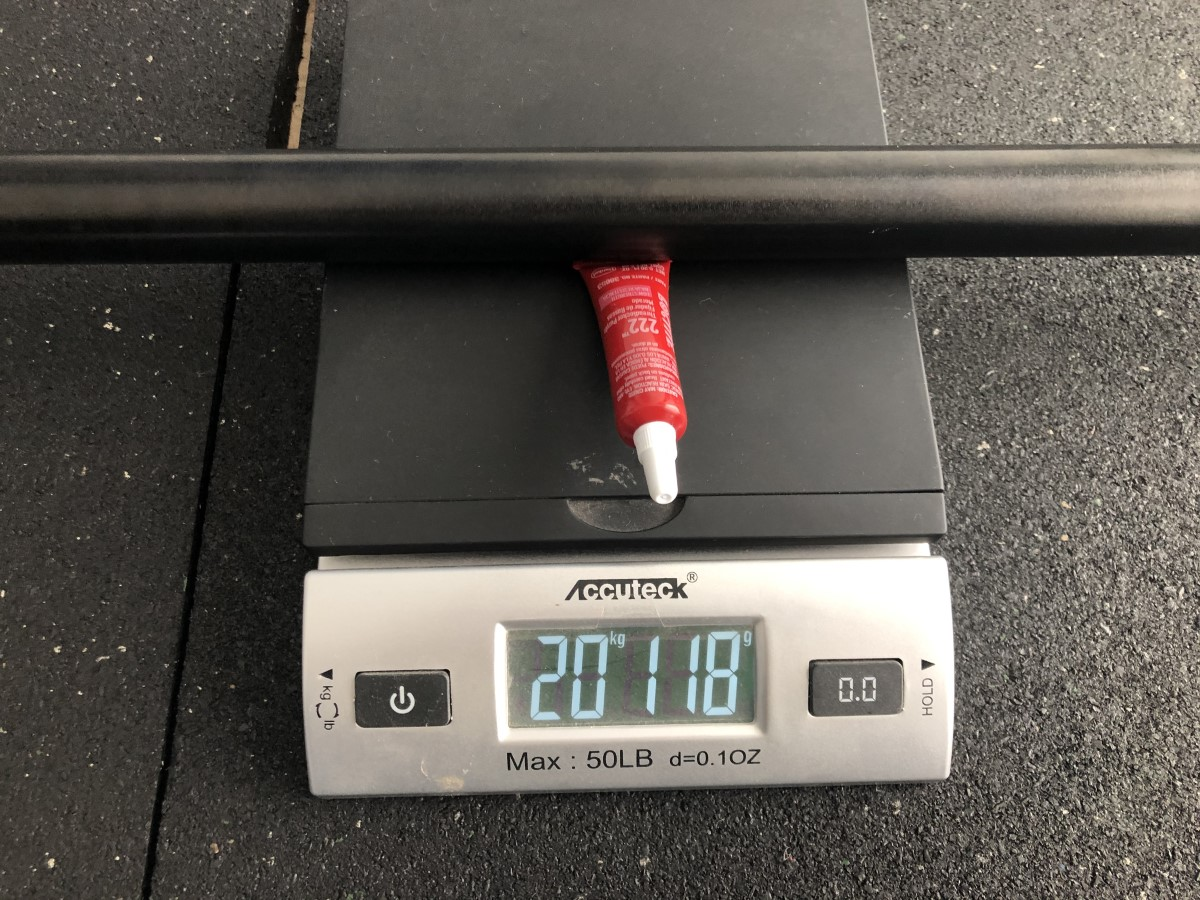 Ironmaster OB 86 bar actual weight on scale
