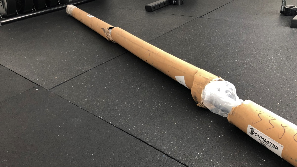 barbell packaging tube shipping damage