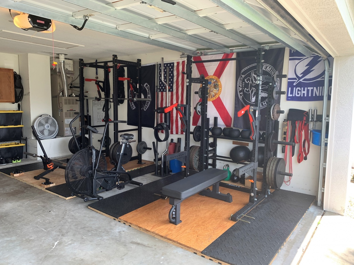Logan 2 rack garage gym