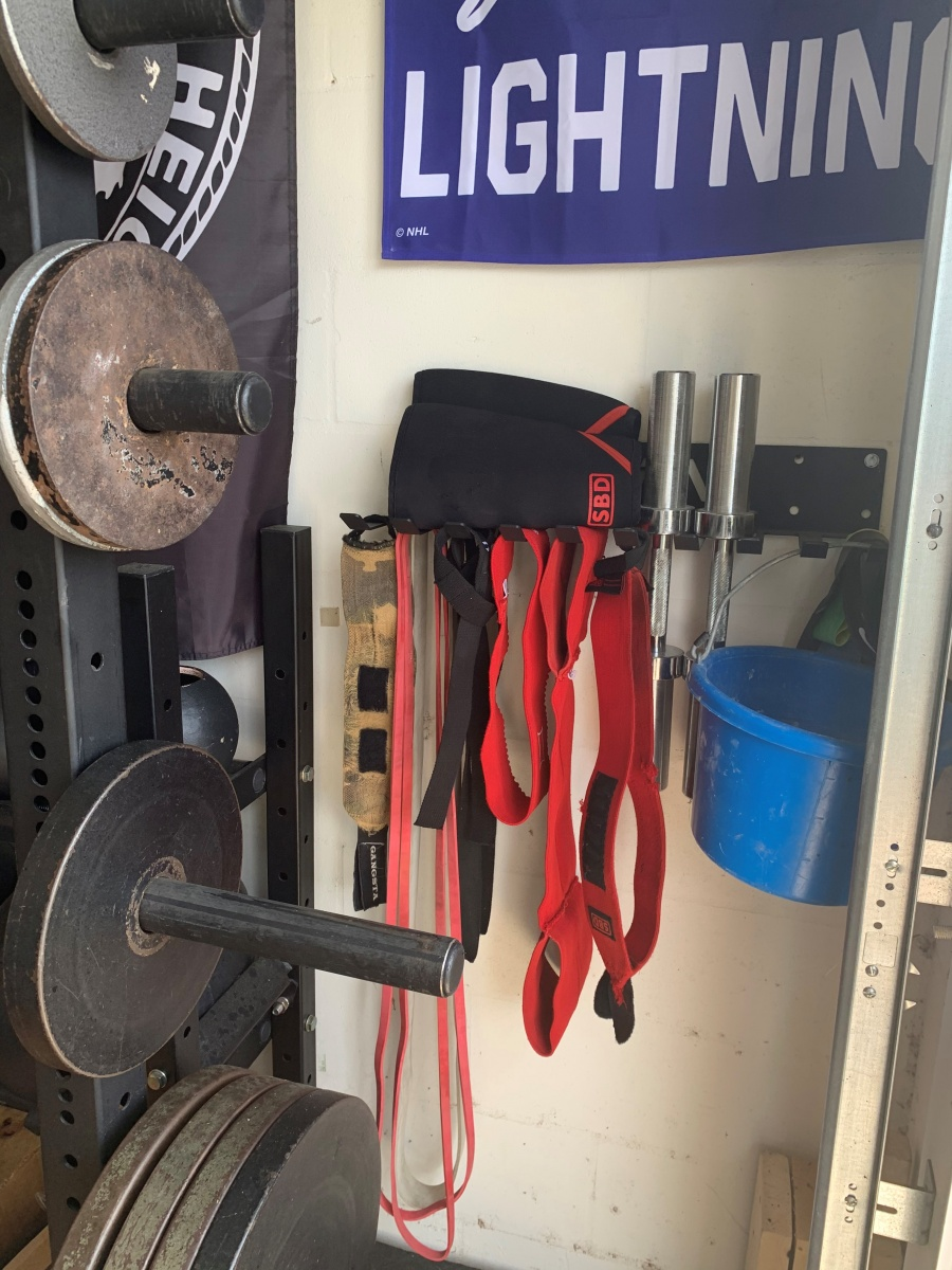wall storage for gym equipment