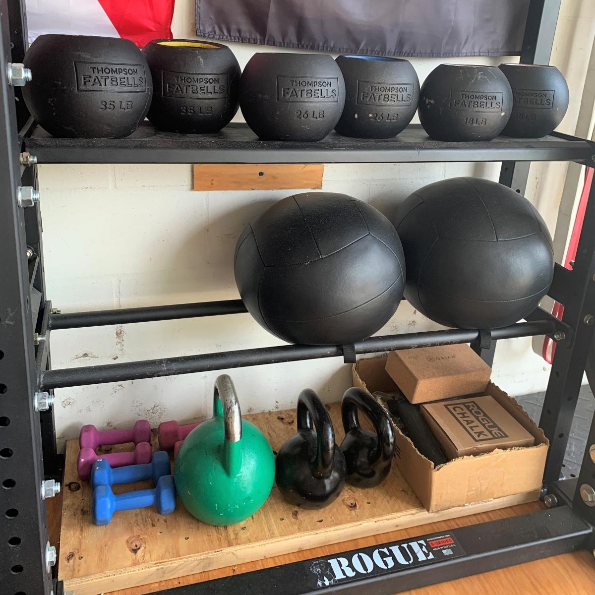 FatBells and medicine balls