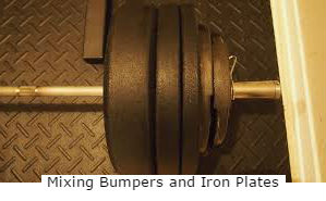 mixing bumpers and iron plates