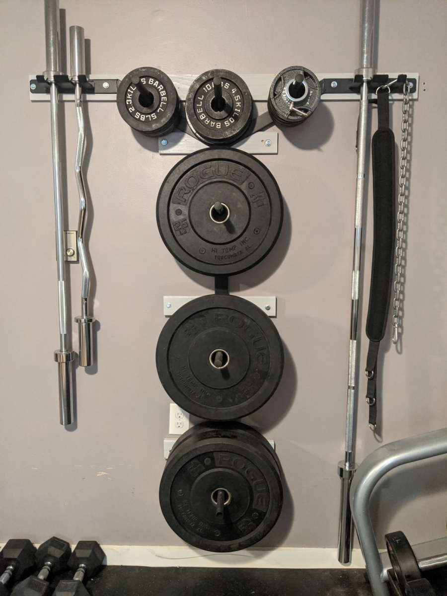 titan wall storage rack for weight plates