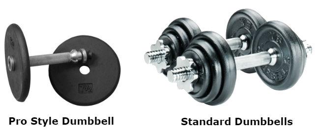 Pro style dumbbell vs standard dumbbells
