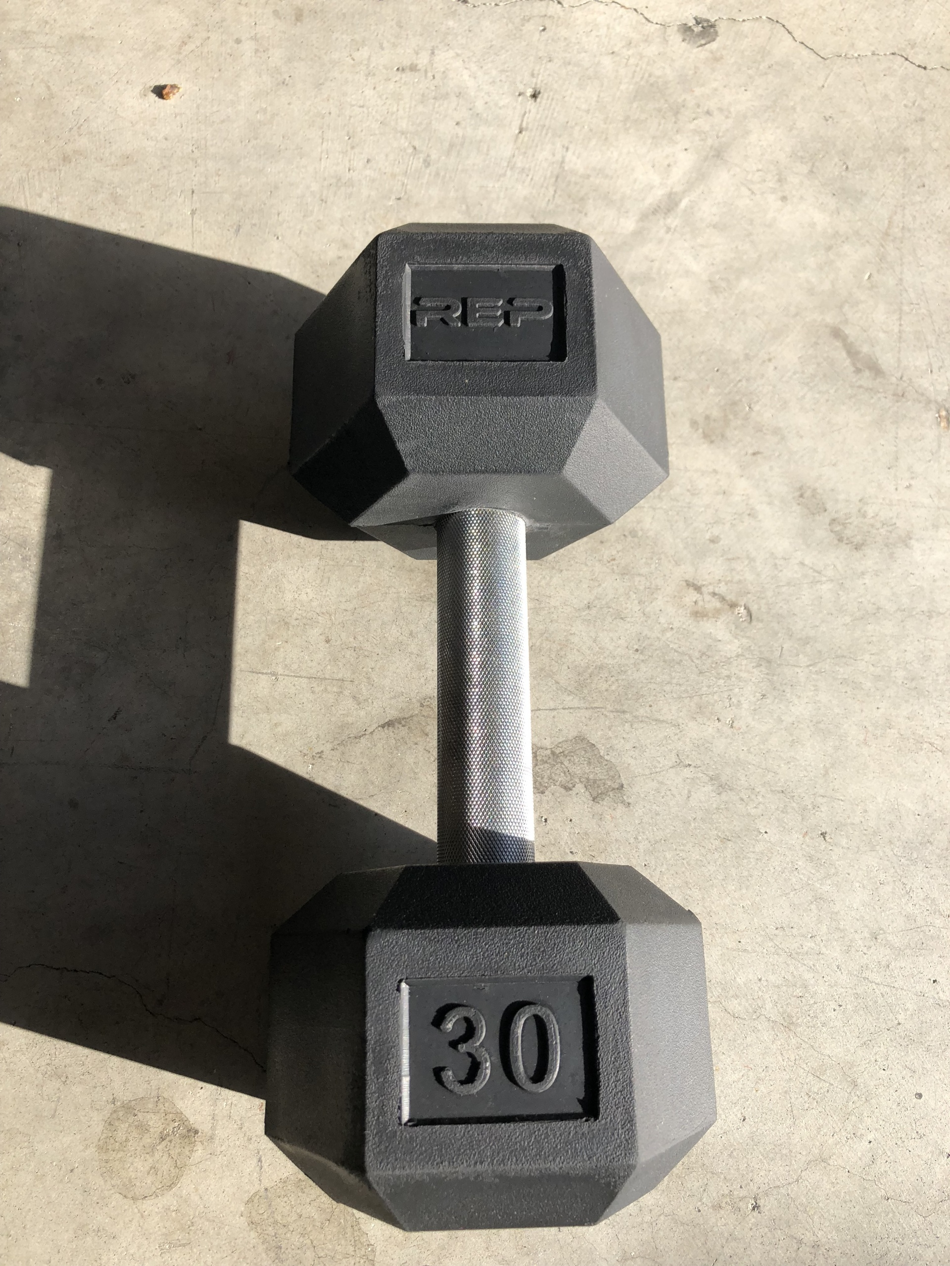 Rep single rubber hex dumbbell
