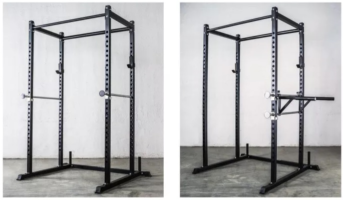 Rep Fitness short power rack for low 7ft basement ceilings