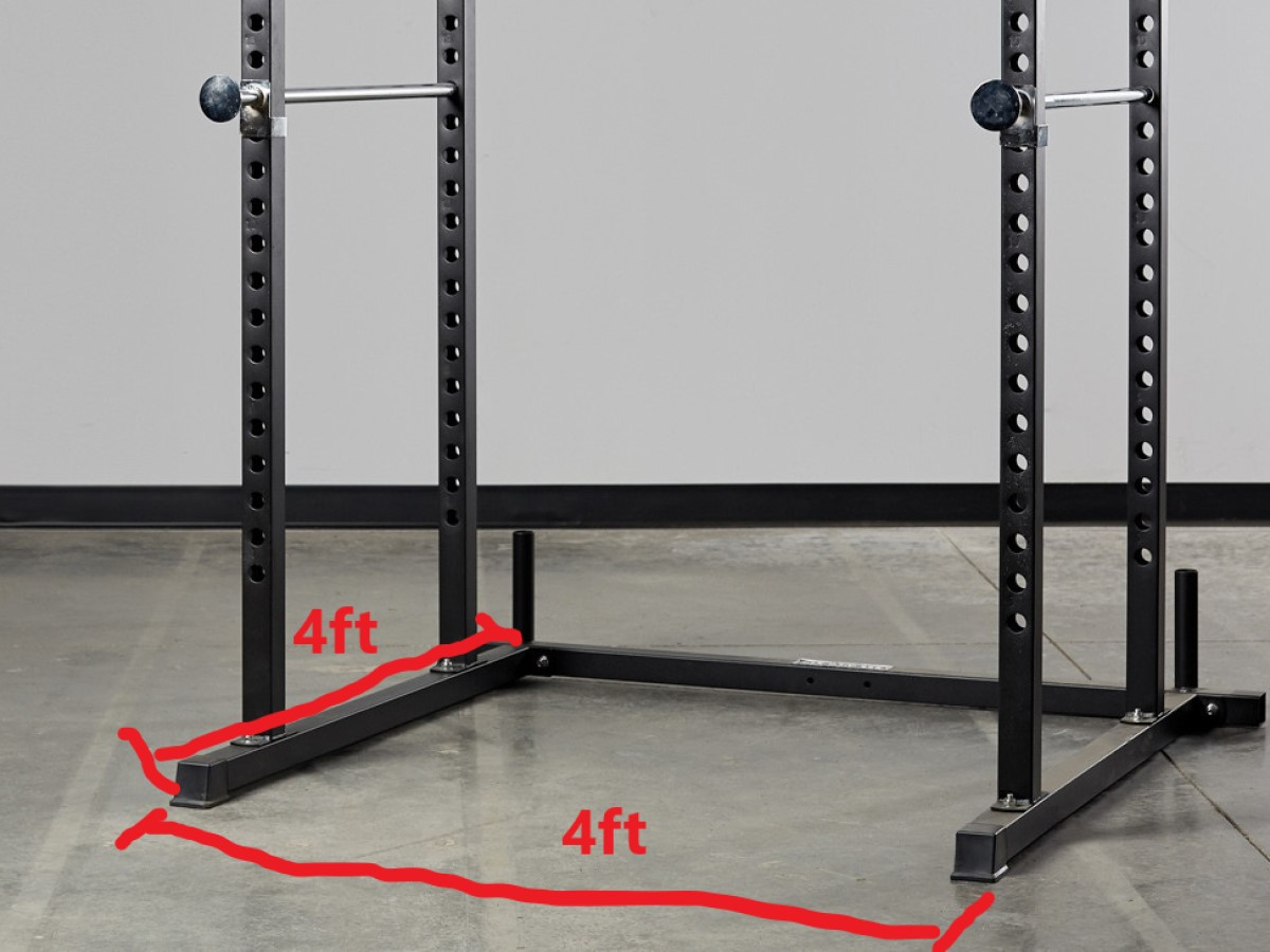 squat rack dimensions