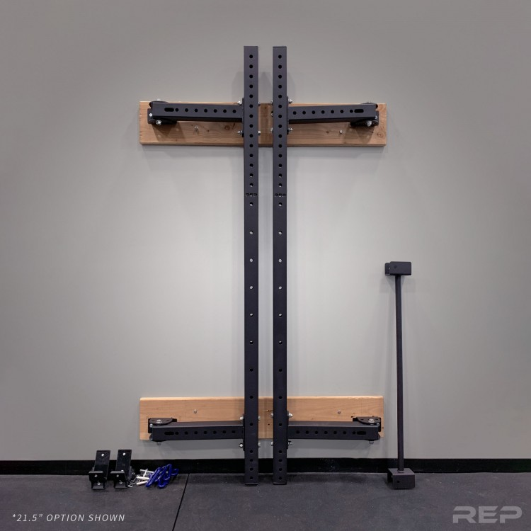 fold back garage squat rack