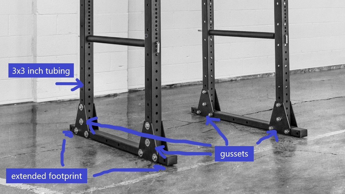 freestanding power rack stability features