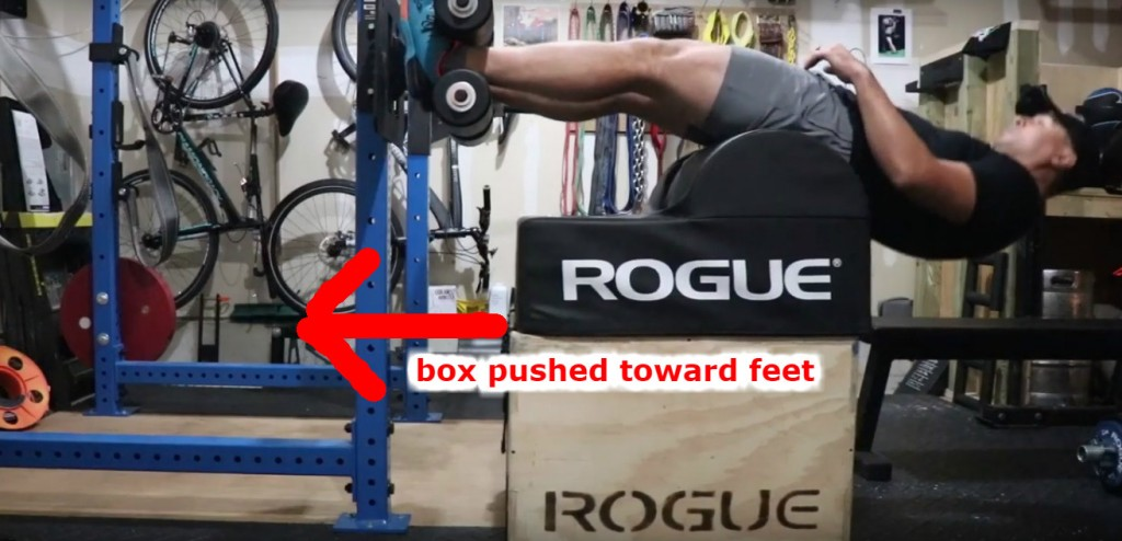 Rogue Echo GHD sit ups cause the box to slide