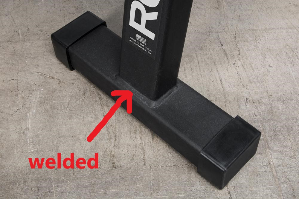 flat weight bench welded construction