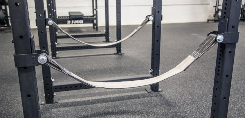 safety straps for reducing noise on a power rack versus traditional safety bars