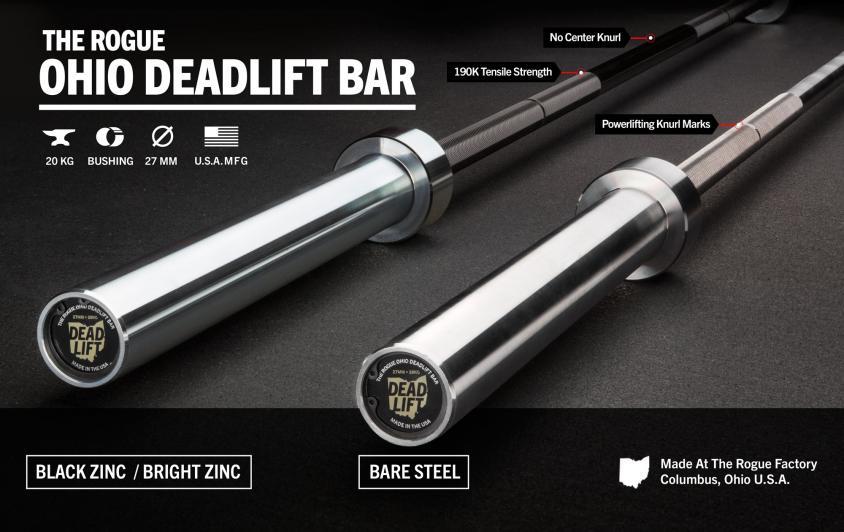rogue ohio deadlift bar features