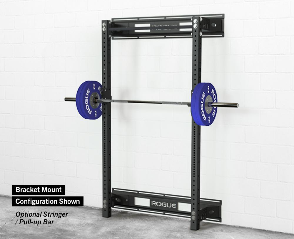 space saving wall mounted squat rack