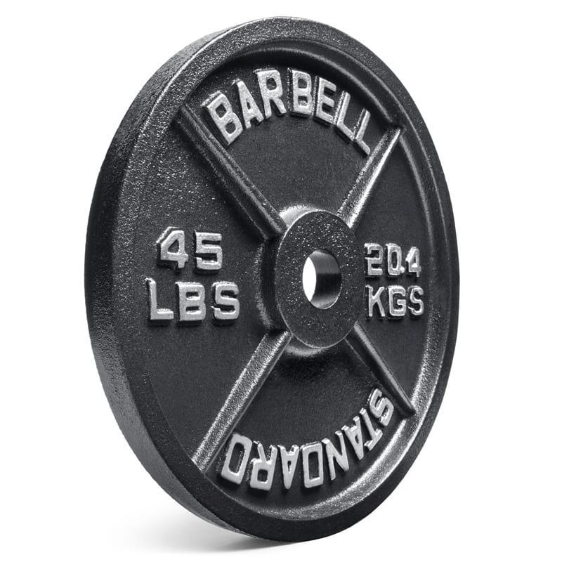 standard olympic 45lb plate
