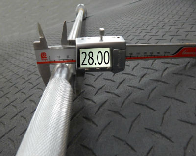 A 28mm olympic barbell shaft