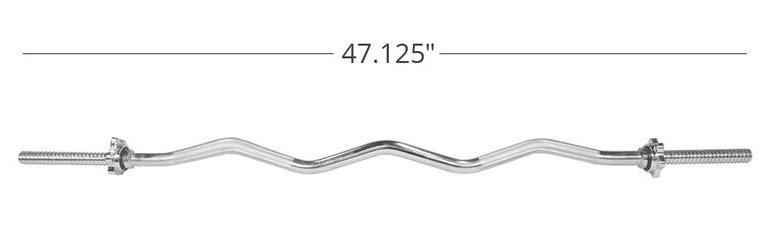 how much does a standard EZ bar weigh