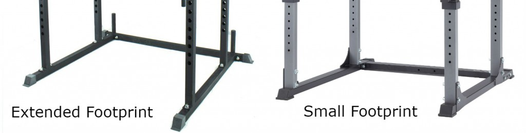 Titan T-2 power rack extended footprint for stability