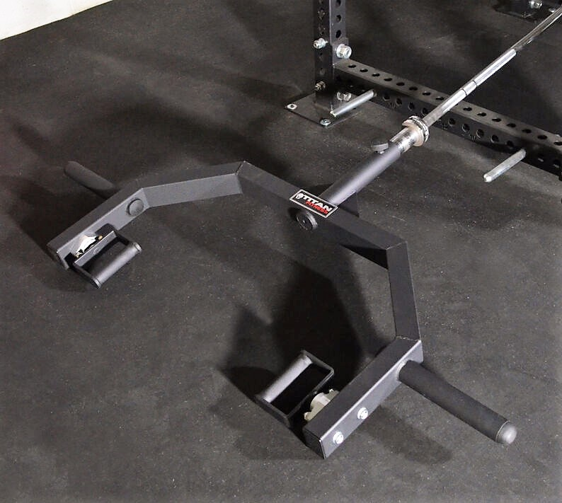 Clean and jerk landmine attachment with rotating neutral handles