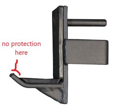 power rack UHMW lined J hooks design flaw