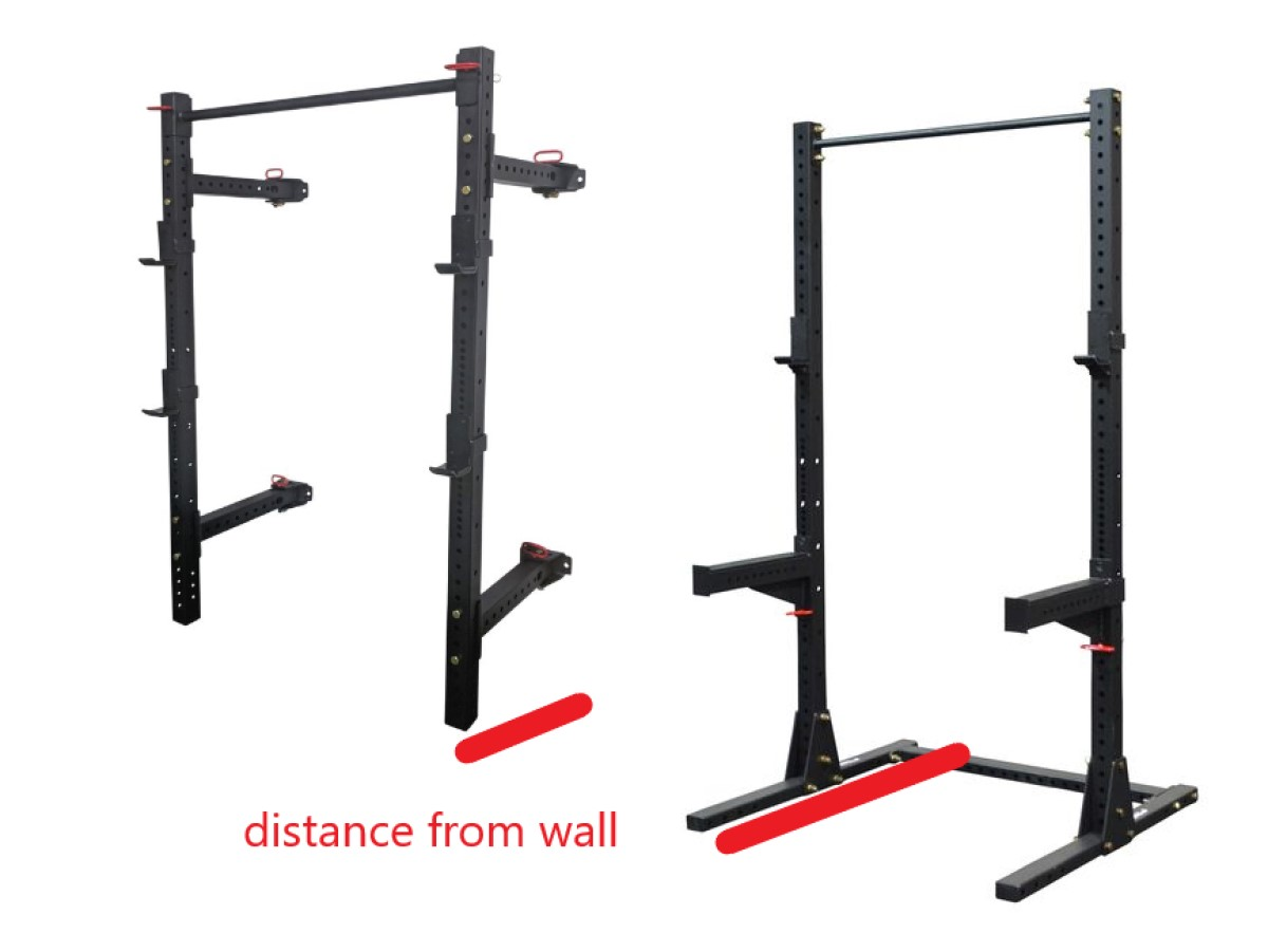 squat rack depth and space required