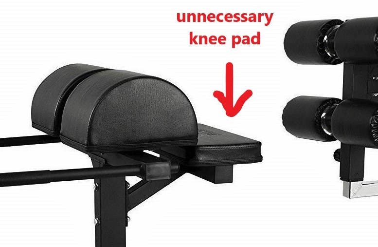 Outdated knee pad feature on Valor GHD
