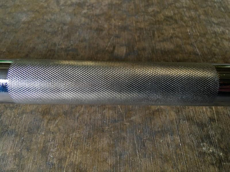 Vulcan bearing bar center knurling