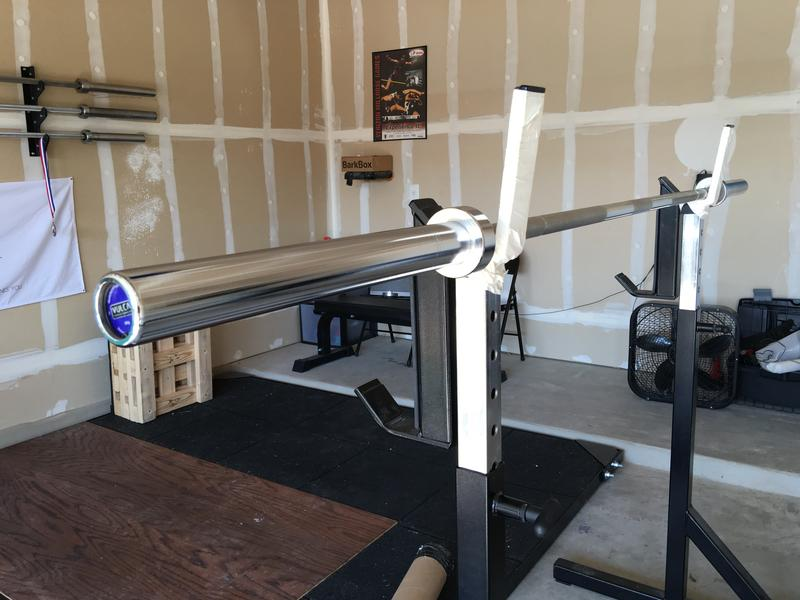 Vulcan bar on squat stand