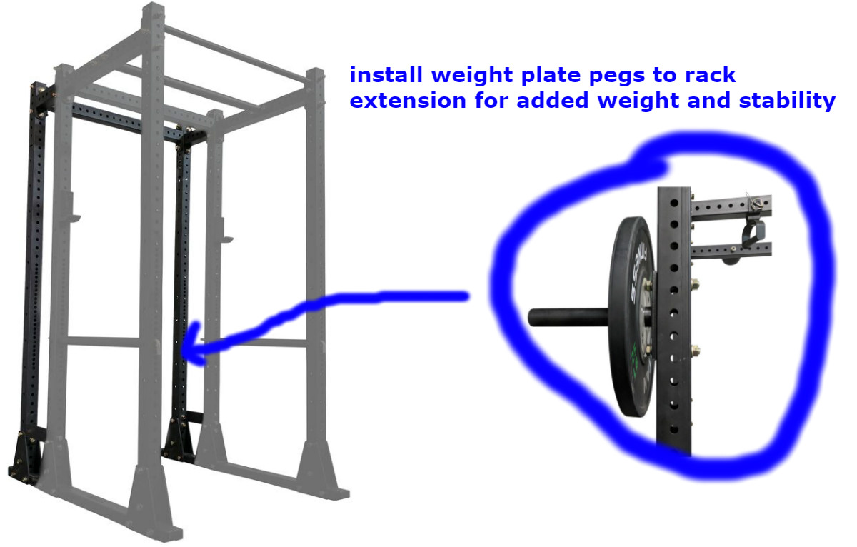 weight down power rack with weight plates