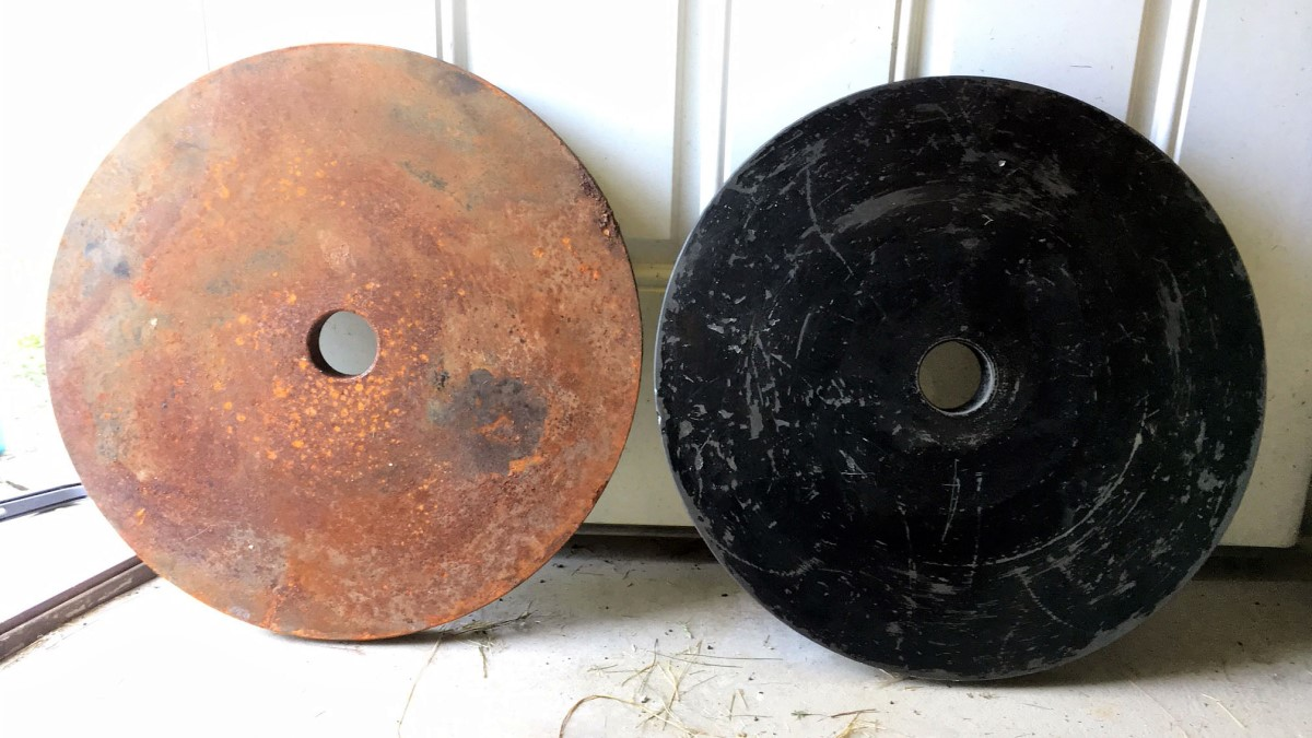 citric acid powder rust removal on weight plates