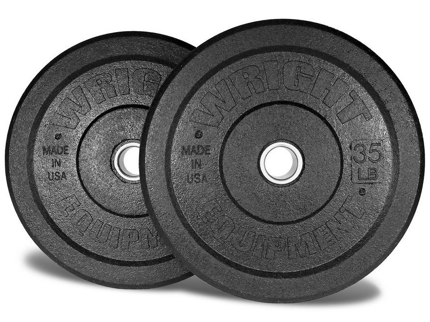 crumb bumper plates are less likely to damage a garage floor